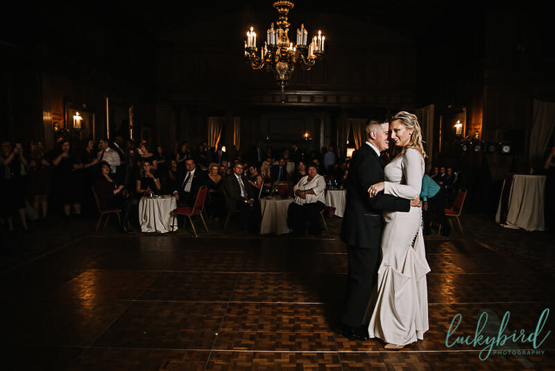 first dance at toledo club wedding