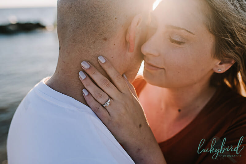 romantic engagement photography at maumee bay ohio