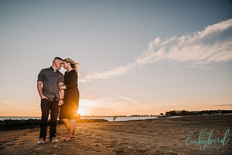 sunrise beach engagement photos in toledo