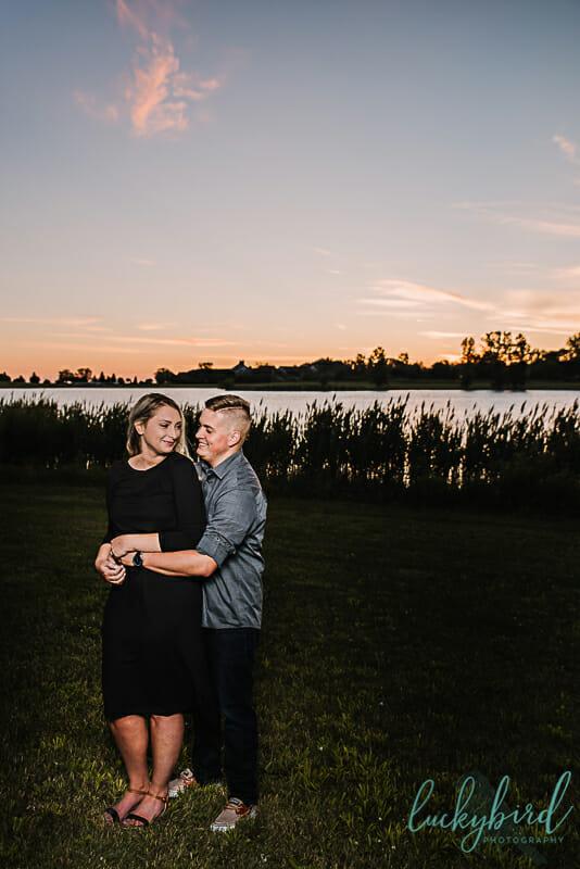 sunrise engagement photos in northwest ohio