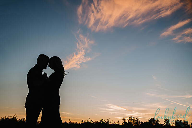 sunrise engagement session at maumee bay state park