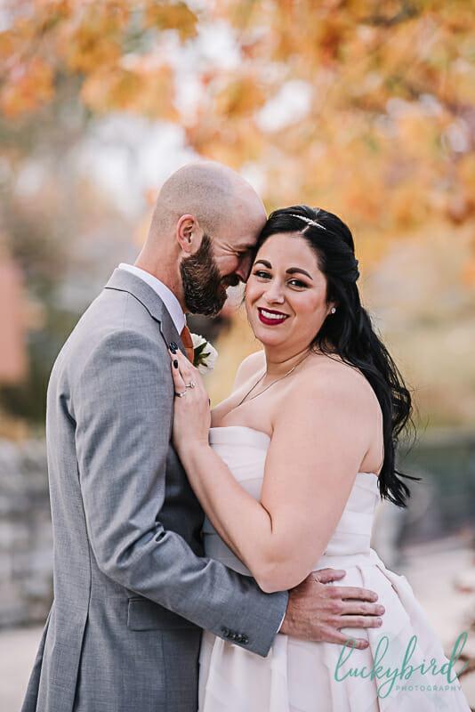 toledo zoo fall wedding first look