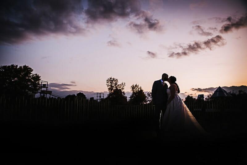 toledo zoo sunset fall wedding photos