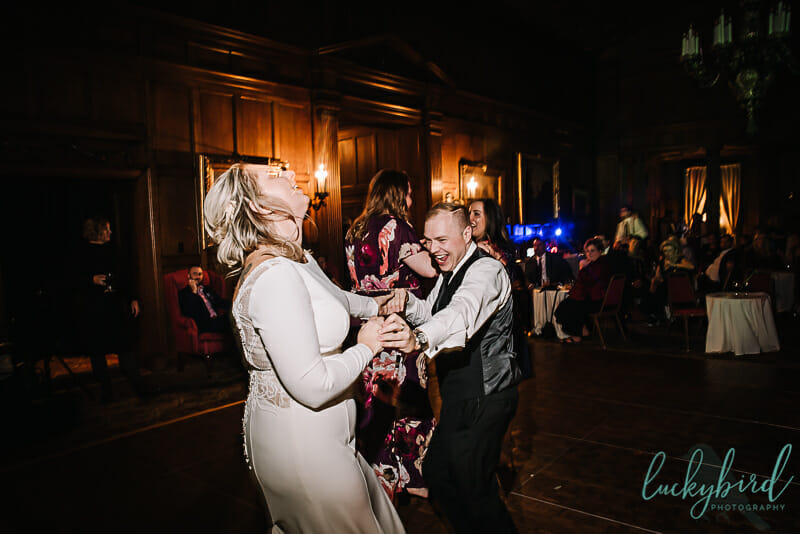 wedding dancing at toledo club