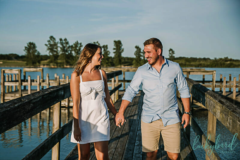 maumee-bay-engagement-photos-with-dock-and-water