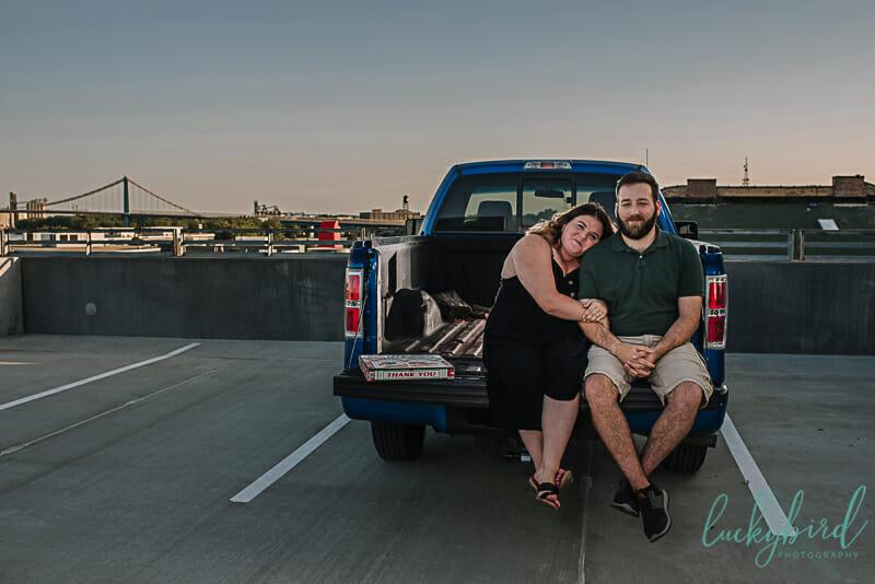 parking garage engagement photos toledo