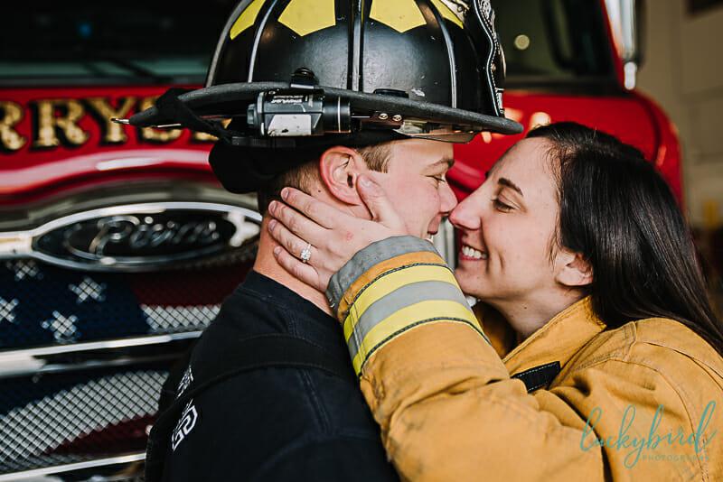 perrysburg fire engagement photos