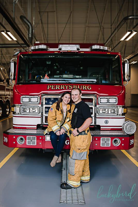 perrysburg fire station engagement photos