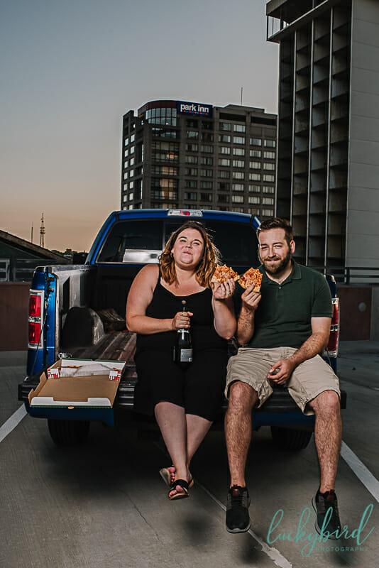 pizza engagement photos in toledo