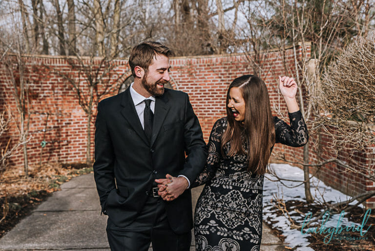 spring engagement session at wildwood toledo