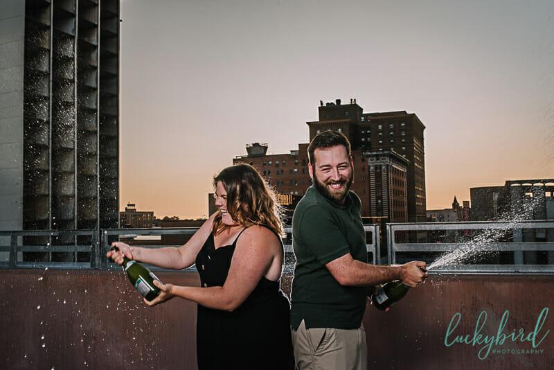 toledo champagne engagement photos