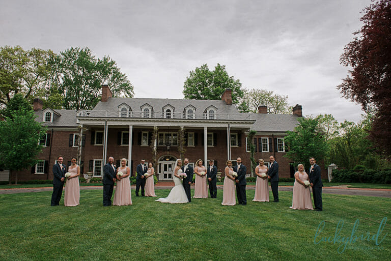 wedding party at wildwood manor house