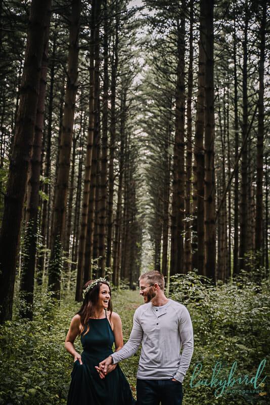 cute engagement photos at the spot oak openings