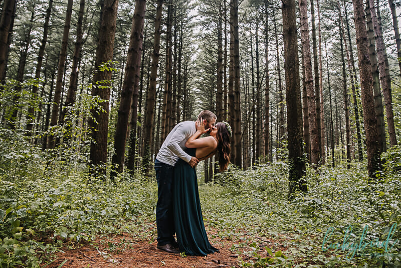 swanton metropark engagement photos in the woods