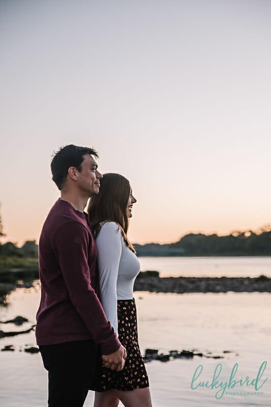 cute sunrise engagement photos