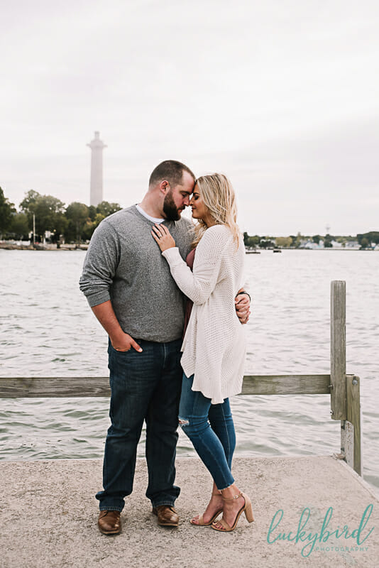 engagement photography at put in bay