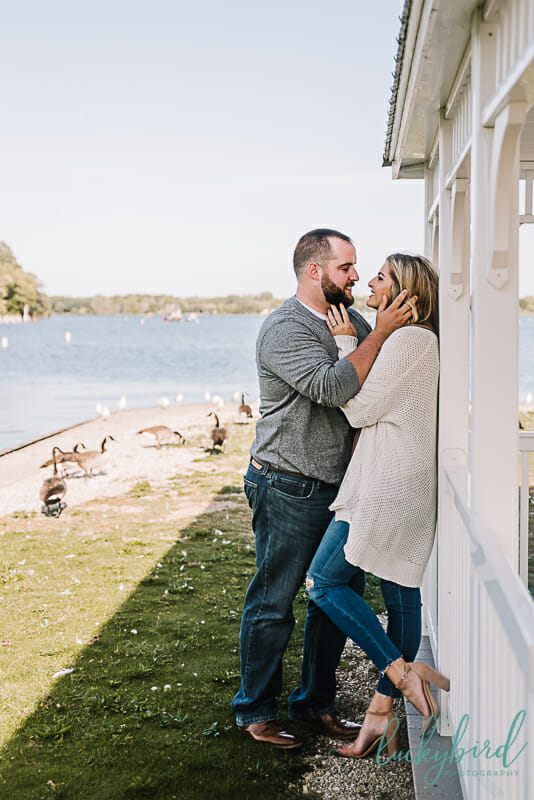 engagement photos at put in bay