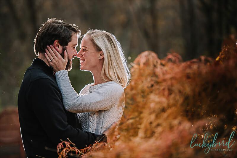 fall engagement photos at wildwood
