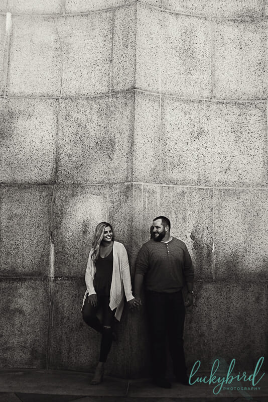 moody engagement photos at put in bay