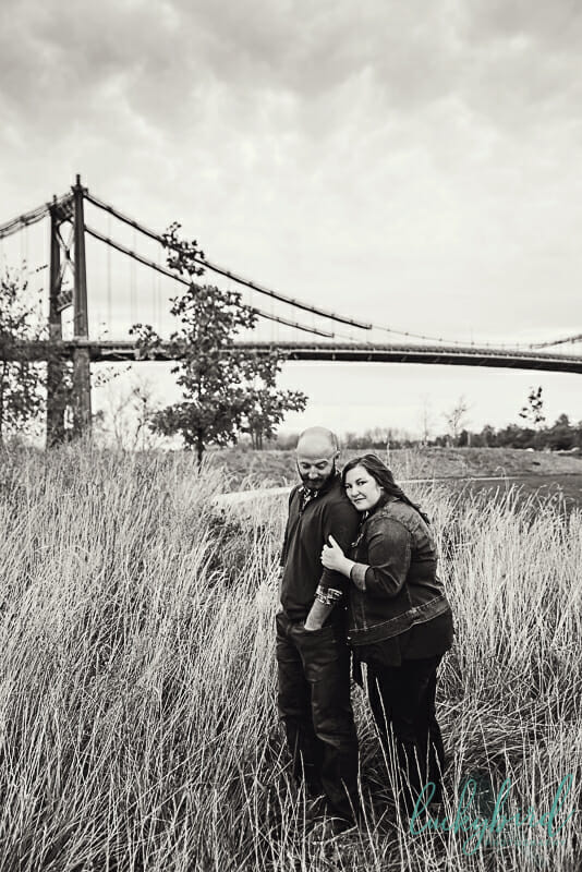 tall grass at middlegrounds park engagement session