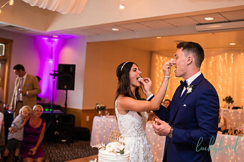 cake smash at stone ridge wedding