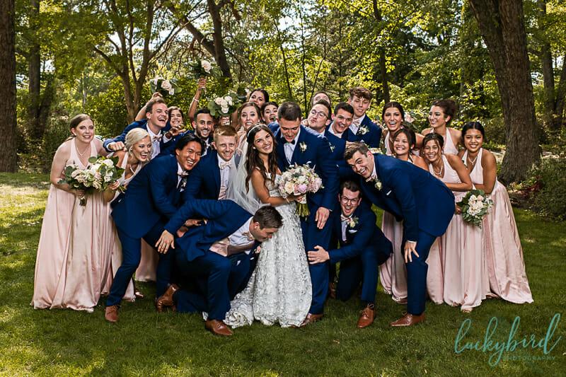 fun wedding party photos in toledo
