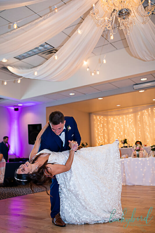 romantic first dance at stone ridge wedding