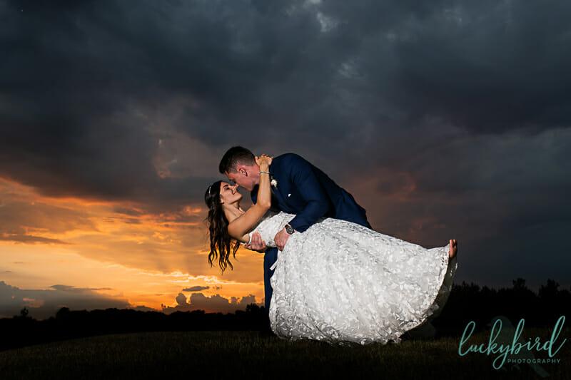 stone ridge sunset wedding photography