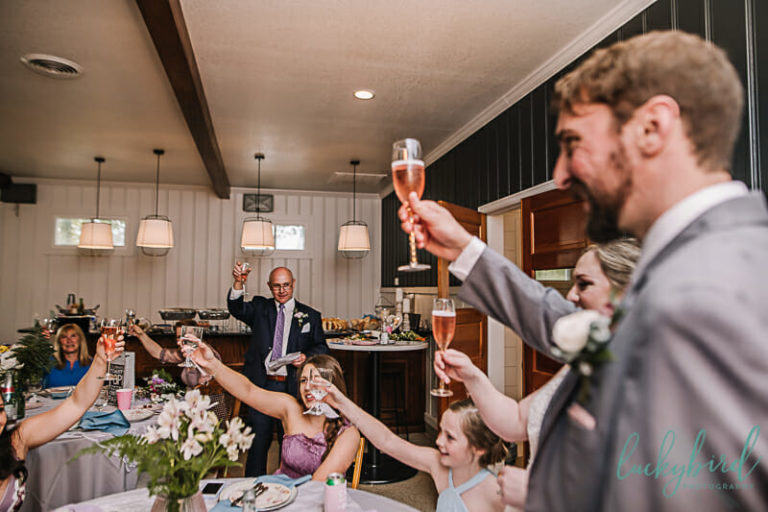 toast at stables wine room wedding