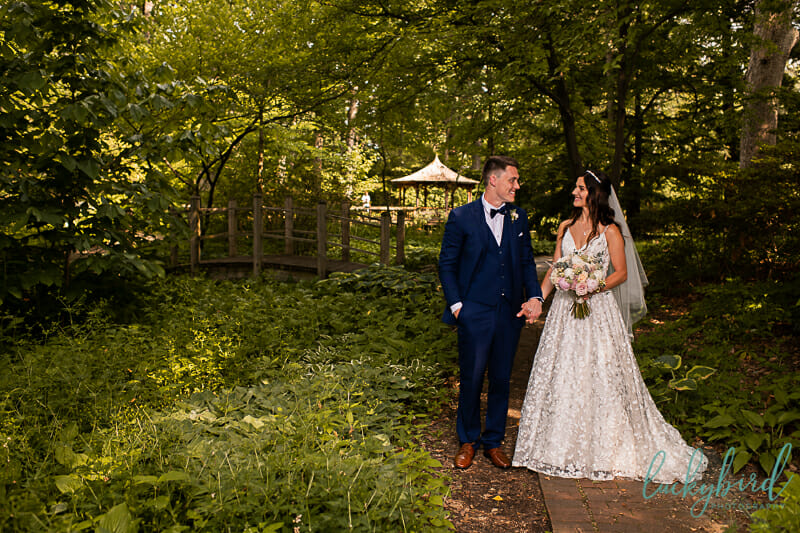 toledo botanical garden wedding photos by gazebo