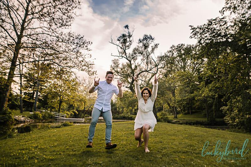 couple photos at sidecut park