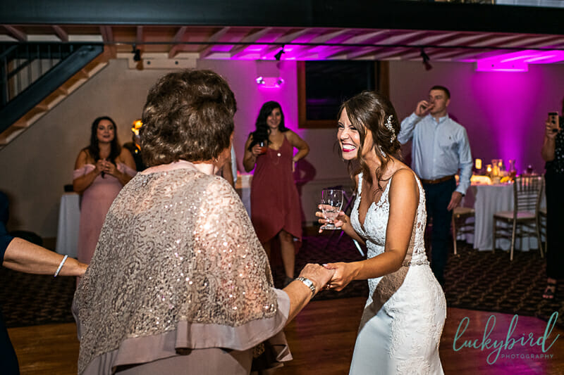 dancing reception photo at nazareth hall