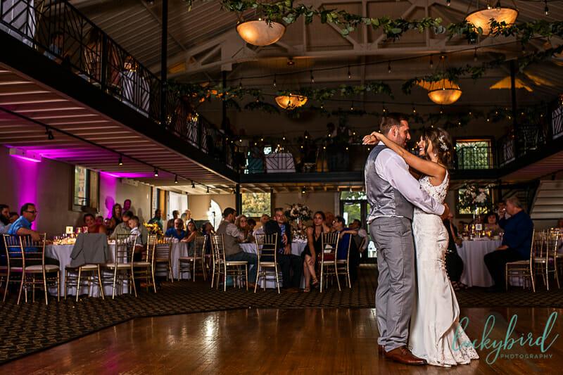 first dance at nazareth hall wedding