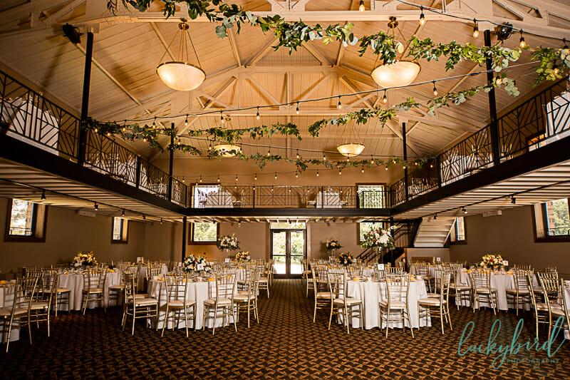 lady glen ballroom at nazareth hall during wedding reception