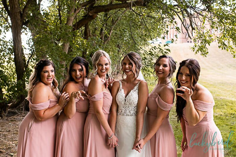 nazareth hall grotto bridesmaids photos