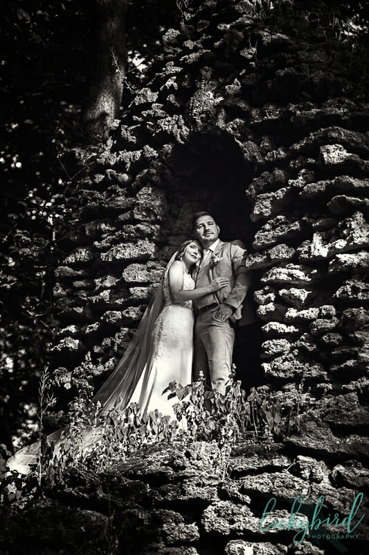 nazareth hall photo with couple in grotto