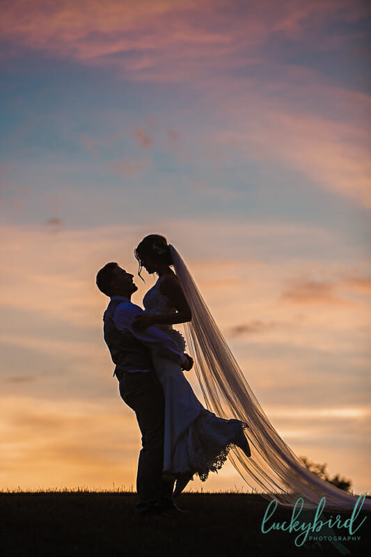 romantic sunset photos at nazareth hall