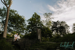 toledo engagement photos with moon