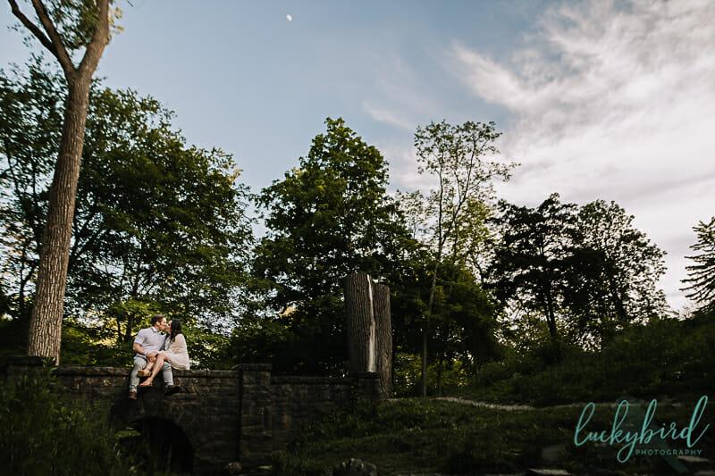 Summer Engagement Photos at Side Cut Park
