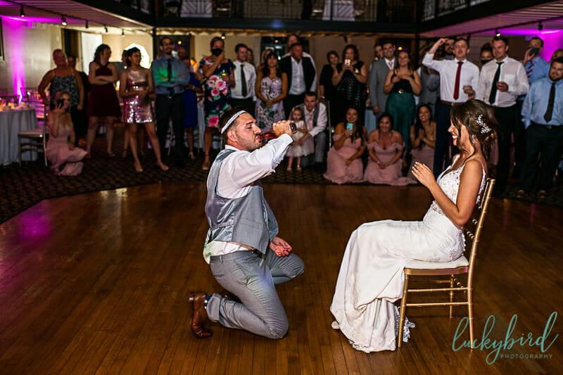 wedding reception ice nazareth hall