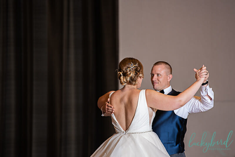 ballroom first dance wedding photo