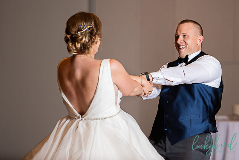 choreographed first dance during dublin ohio wedding
