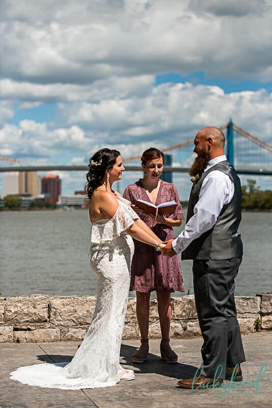 downtown toledo wedding ceremony photos