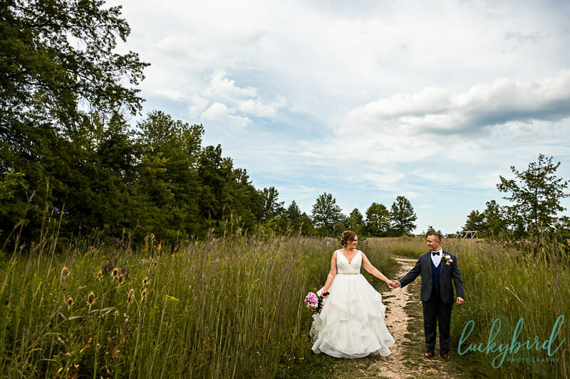 dublin ohio park wedding photo
