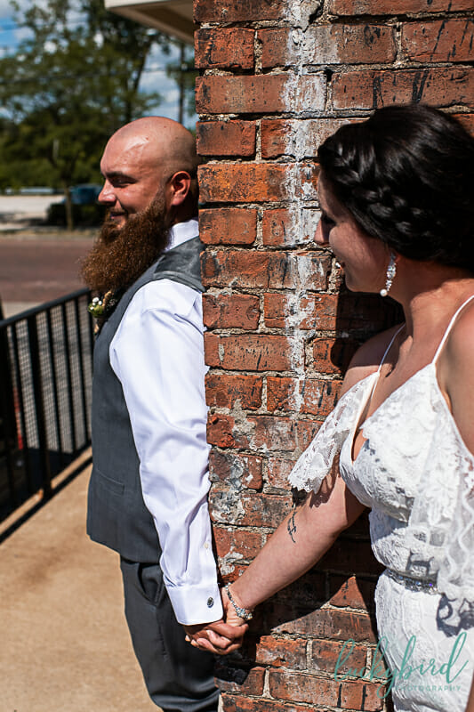 first look with couple at maumee bay brewing