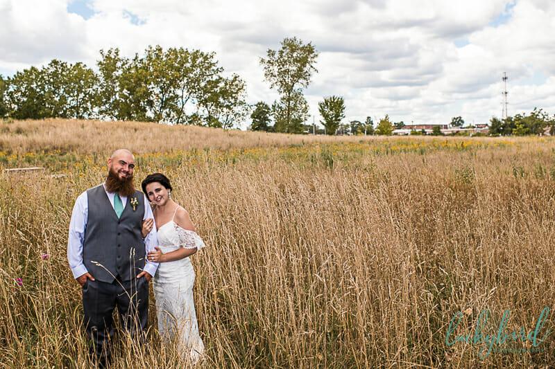 toledo middlegrounds field wedding photo