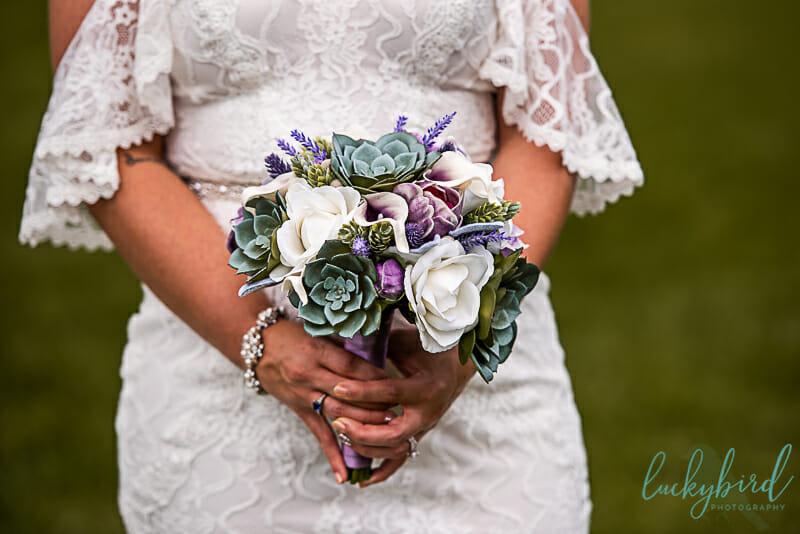 toledo wedding bouquet with succulents