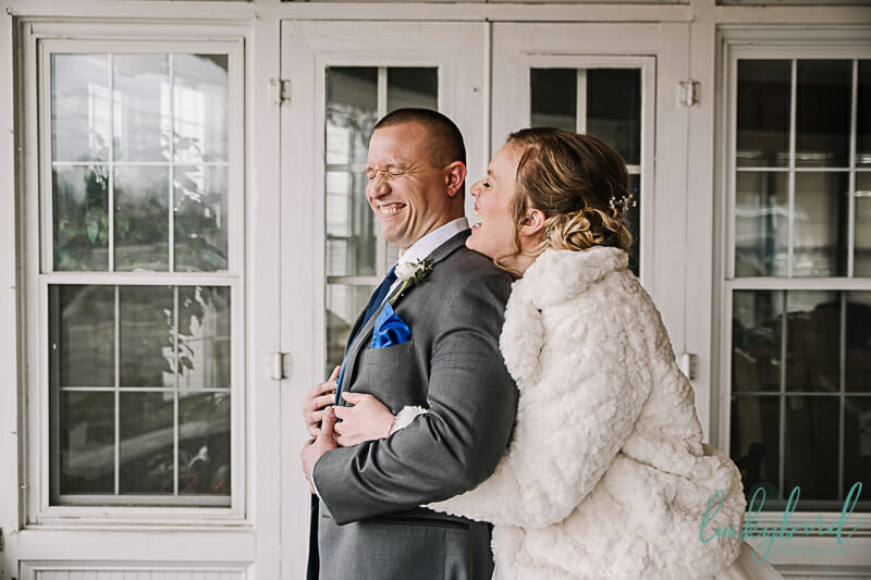 winter wedding photos in dublin ohio