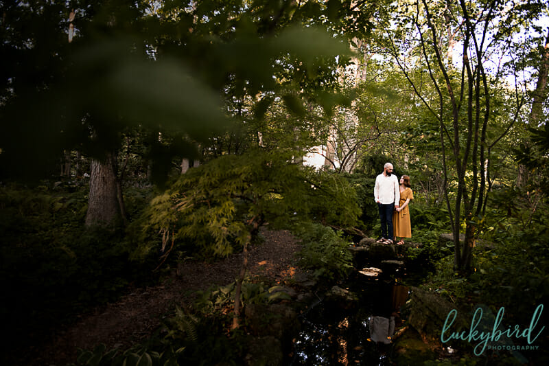 august toledo botanical engagement session with fall colors