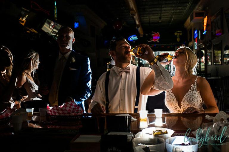 becketts wedding photo inside bar bowling green